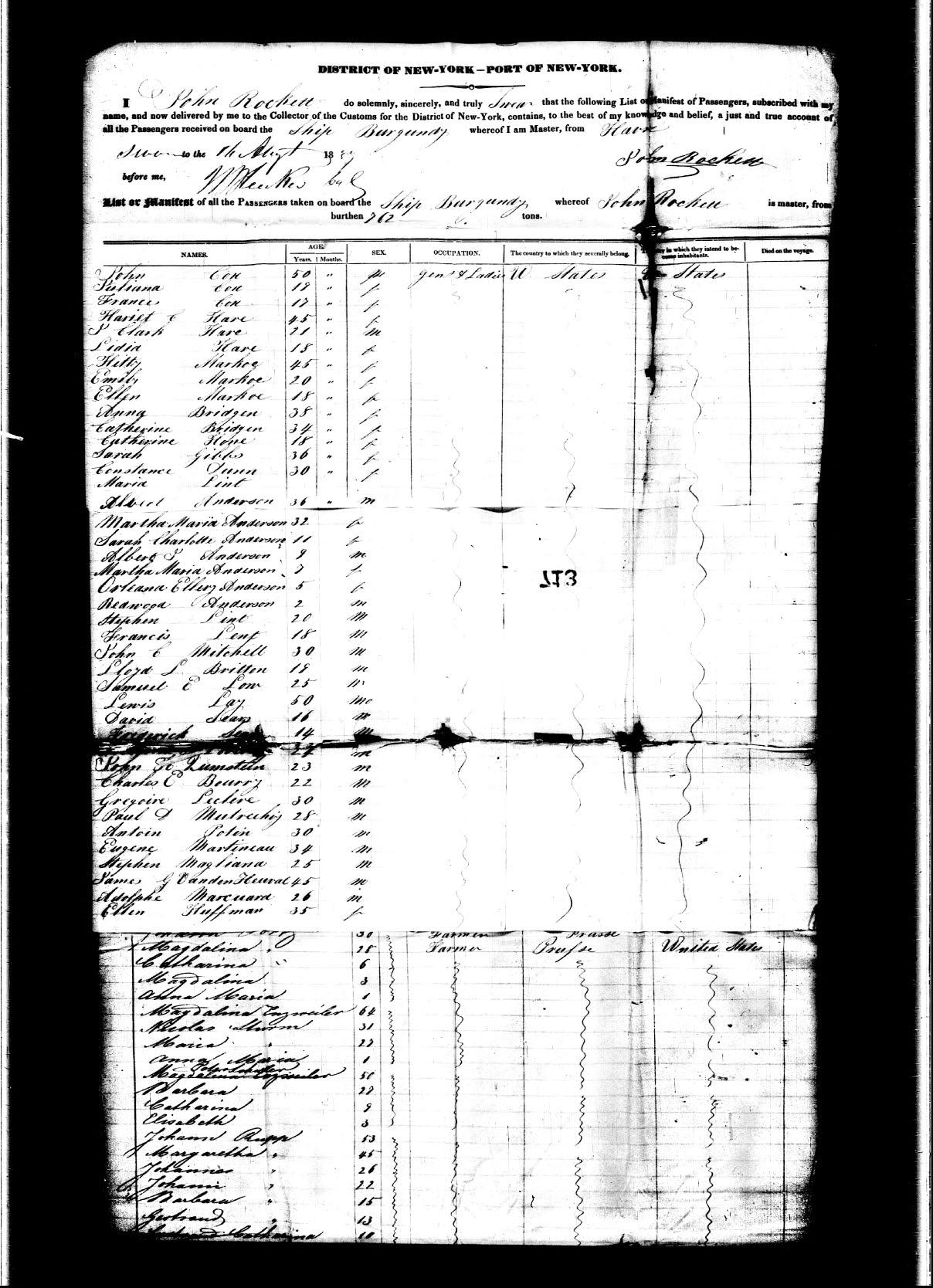 Friede-Abrahamson Genealogy Site - Ship Passenger Records ...